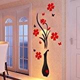 Vovotrade®22 * 60cm Chambre Stickers Muraux Décor Infinity Symbole mot amour vinyle Art_Rouge