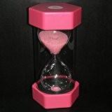 VStoy Sécurité Mode Sablier 15 Minutes Sand Timer -Pink