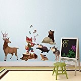 Wall Art r00375 Stickers muraux pour enfants, du Rat Attrape-rêves Multicolore 120 x 40 x 0,1 cm