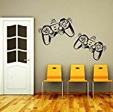Wall Decals Game Controllers Gamer Gamepad Joystick Gaming Video Game Kids Children Nursery Boys Room Bathroom Vinyl Sticker Wall Decor ...