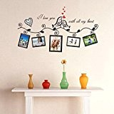 Wallpark Amour Oiseaux Noir Arbre Branche Vigne Cadre Photo Amovible Stickers Muraux Autocollants, Salon Chambre Maison DIY Décoratif Adhésif Stickers ...