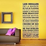 Walplus Sticker mural House Rules Sticker mural amovible en vinyle autocollant murale Art Stickers Décoration DIY Salon Chambre Décor Papier ...