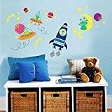 Walplus Sticker mural WS3025 Éclat de galaxie, multicolore