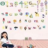Walplus Stickers muraux alphabet/chiffres pour enfants