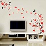 Walplus Stickers muraux style cerisier en fleurs et papillons