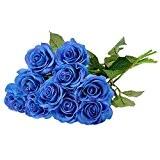 Weksi® 10 PCS Réel-Touch Rose Artificielle En Soie Fleur Artificielle Rose Vivif,Parfait pour le Mariage, Nuptiale, Partie, Bureau Décor Bricolage ...