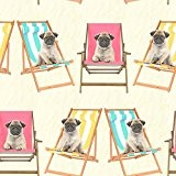 Windsor Wallcoverings Pugs Chien Papier Peint Wallpaper - A161