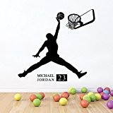 Winhappyhome Basketball Boy Sport Wall Sticker Autocollants ImperméAbles Amovibles Pour Coucher Salon Café Contexte