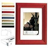 WOLTU # 52 cadre de photo,Cadres Galerie de photos,Photo Collage Galerie,cadre photo,cadre en bois, le verre, le style Artos,15X20,Rouge