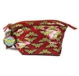 Wonder Woman Logo Make Up Bag and Compact Mirror