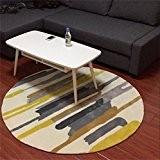 WTL Simple, mode, rayure, circulaire, tapis, salon, étude, chambre à coucher, tapis ( taille : Diameter 120cm )