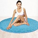 XL-4- Soie/laine longue rond tapis de Yoga tapis chambre salon 120cm , f