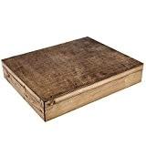 XL Boîte en bois foncé Pour livres en bois en dimensions 37 x 29 cm