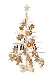 Xmas3S 75cm Arbre de Noël en bois, naturel, 48x 48x 75cm