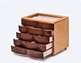 XYLUCKY Boîte à bijoux en bois Creative européenne - collier de style bijoux boîte de rangement cosmétiques , brown , ...