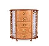 XYLUCKY Meilleur choix produits artisanaux en bois bijoux boîte européenne armoire de stockage de boîte du stockage Bijoux Collier rétro ...
