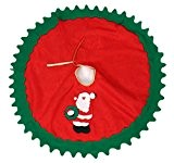 Y-BOA Jupe de Sapin Noël Christmas Décor Rouge Nappe Décoration Noël Tapis Couvre-Pied de Sapin 80cm Noël Père
