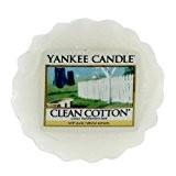 Yankee Candle 1016716E Tartelette en cire senteur Coton frais Blanc