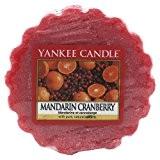 Yankee Candle 1065589E Tartelette Parfumée en Cire Mandarine et Canneberge Combinaison Rouge 6,1 x 5,7 x 2 cm 22 g