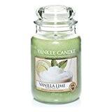 Yankee Candle 1106730E Bougie en Pot Vanille/Citron Vert