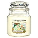 Yankee Candle 114504E Bougies jarres moyen parfumée Cookie de Noël Verre Jaune 10,6 x 9,8 x 13,2 cm