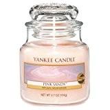 Yankee Candle 1205342E Bougie Parfumée Petite Jarre Sable Rose Combinaison Rose 6,5 x 6,2 x 5,3 cm 104 g