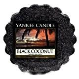 Yankee Candle 1254008E Black Coconut Tartelette en Cire Bougie Noir