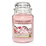 Yankee Candle 1257046E Bougie senteur Summer Scoop en jarre Blanc