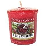 Yankee Candle 1323190E Bougie Votive Framboise Rouge Combinaison Rouge 4,5 x 4,2 x 4,8 cm 49 g