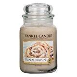 Yankee Candle 1332252E Bougie parfumée senteur Pain au raisin en jarre Rouge