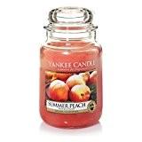 Yankee Candle 1507728E Bougie Parfumée Grande Jarre Pêche d'Été Combinaison Orange 10,1 x 9,8 x 17,7 cm 623 g