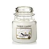 Yankee Candle 1507744E Bougie Parfumée Moyenne Jarre Vanille Combinaison Blanc 10 x 9,8 x 10,1 cm 410 g