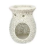 Yankee Candle 1507872 Bubble Mosaïque Bruleur à Tartelette Verre/Combinaison Blanc 11,4 x 11,3 x 14,4 cm