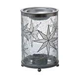 Yankee Candle 1521433Arctic Snowflake MW Lampe à Parfum, verre, argent grofrosted, 10x 10x 15,5cm