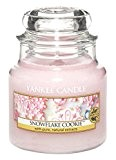 Yankee Candle Bougie en pot Parfum biscuit flocon, rose, Small