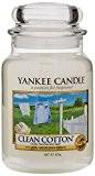 Yankee Candle Bougie en pot Parfum coton frais, Taille L