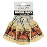 Yankee Candle (Bougie) - French Vanilla - Pack de 3 Jarres Désodorisantes pour Voitures