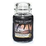 Yankee Candle Bougie parfumée en pot Noix de coco noire, noir, Taille L
