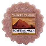 Yankee Candle Bougie parfumée Musc égyptien Cire Tartelette, en plastique, Marron