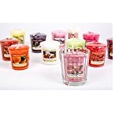 Yankee Candle Photophore en verre strié avec 6 bougies votives assorties
