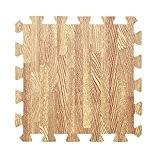 Yazi puzzle Tapis bébé Ramper Tapis de jeu dalles en mousse EVA Tapis de sol effet bois pour chambre d'enfant ...