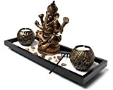 Yudu zen-garten jardin avec statue de ganesh bougies de sable nr yH071: pierre