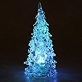 Yunt Sapin de Noel Artificiel en Plastique Blanc Lumineux Arbre de Noel Magnifique