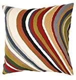Zaida Housse de coussin 60 x 60 cm (laine et coton Curve Multicolore