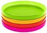 Zak Designs 2073-120 Stacky Set de 4 Dessous de Verre Hot Pop 10 cm