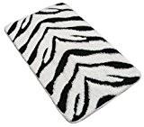 zèbre noir blanc tapis de bain tapis de bain tapis épais grand 55,9x 86,4cm–56x 87cm