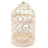 zedtom 8x 14cm birdcage-shape Porte Bougie Chauffe-plat en Métal lanternes de mariage Maison Décoration de table (Blanc)