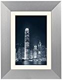 Zep AL6S8 Cadre Photo 40 x 60 cm avec Passe-Partout 30 x 45 cm Aluminium Argent/Clair