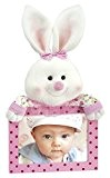 Zep CF93P Collection Baby Bunny Cadre Photo avec Peluche Lapin Bois Rose/Blanc