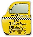 Zep YY161 Porte de Taxi New York Décoration Murale Miroir Métal Jaune